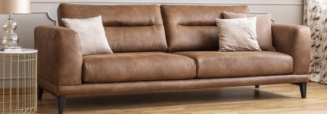 Leather sofas image