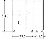 ארון למיקרוגל - דגם 405. ריהוט, רהיטים זולים, ריהוט ארגוני, ריהוט למטבח, ארונות מיקרוגל.