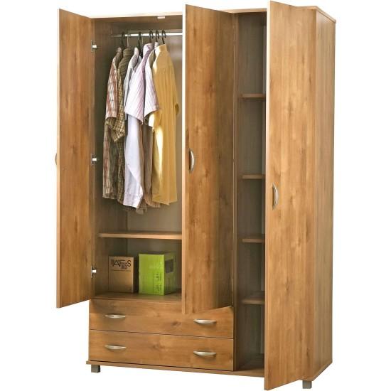ארון בגדים - דגם 607. ריהוט, רהיטים זולים, ריהוט ארגוני, חדרי שינה, ארונות, ארונות לחדר שינה, ארונות בגדים.