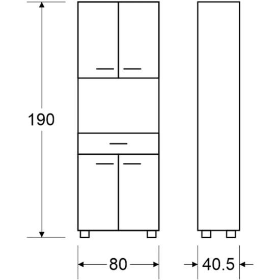 Microwave Cabinet 407 Furniture, Budget Furniture, Organizational Furniture, Furniture for kitchen, Microwave cabinets image