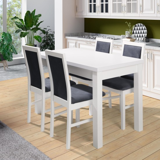 White dinner table ORION II P Furniture, Dining Room Sets, Wooden Dining Sets, Tables and Chairs, Wooden Tables image