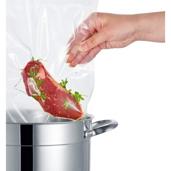 Mix package of 50 notched vacuum bags in size 20X30 / 30X40 / 16X25 from SEVERIN Kitchen Appliances, Sous Vide, Vacuum Sealers image