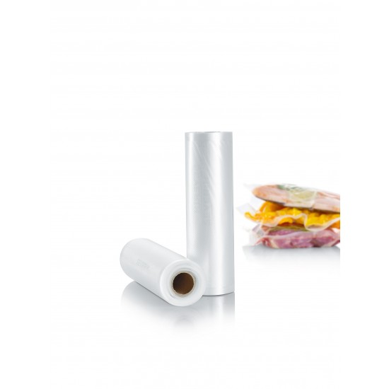 Pack of 2 cylindrical vacuum bag rolls in size 20X600 each from SEVERIN image