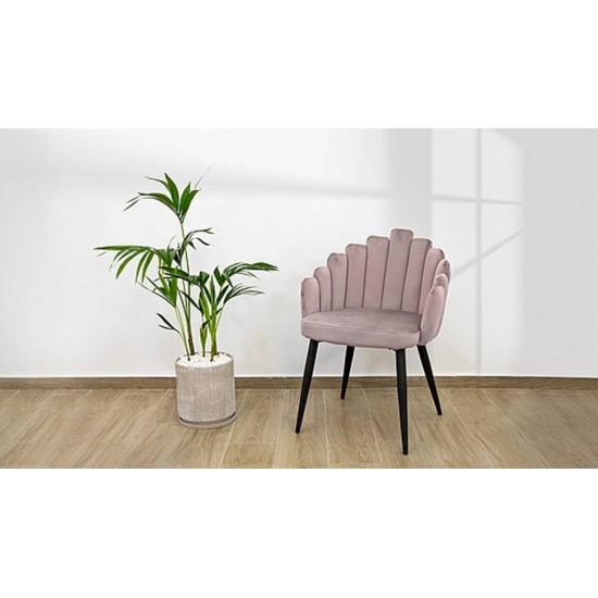An armchair designed in a pink velvet style, OLDI model image