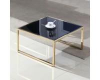 שולחן סלון מאיה 100x100. ריהוט, שולחנות קפה, ריהוט לסלון, שולחנות סלון, שולחנות קפה מזכוכית, שולחנות קפה.