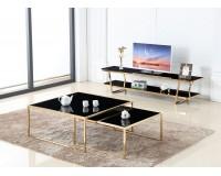 שולחן סלון מאיה - סט של 2 שולחנות 100 + 80. ריהוט, כל שולחנות הקפה, ריהוט לסלון, שולחנות סלון, שולחנות קפה מזכוכית, שולחנות קפה.