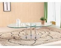 שולחן סלון אובלי 952. ריהוט, שולחנות קפה, ריהוט לסלון, שולחנות סלון, שולחנות קפה מזכוכית, שולחנות קפה.