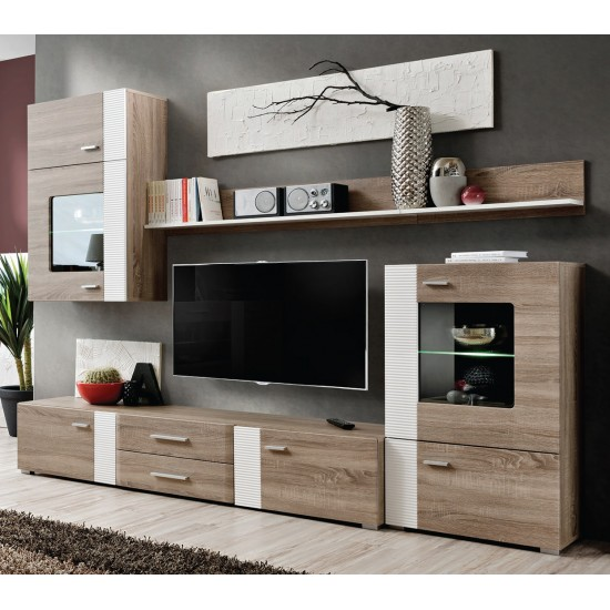 ALEPPO Living Room Wall Unit Set White image