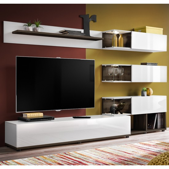 SILK WHITE Living Room Wall Unit image