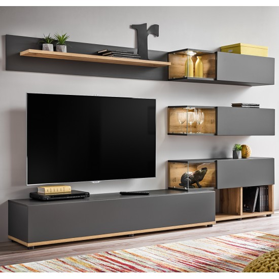 SILK wotan oak Living Room Wall Unit image