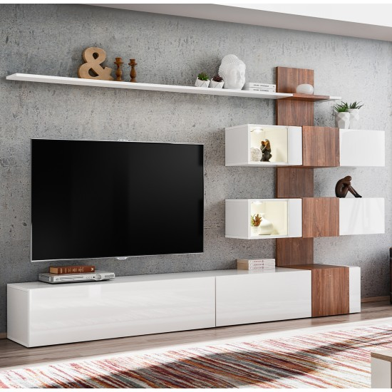 QUILL Living Room Wall Unit Furniture, Furniture Wall Units, Organizational Furniture, Modern Furniture Wall Units image