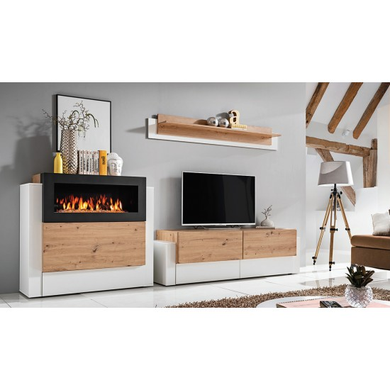 wall unit QUEENS with bio fireplace image