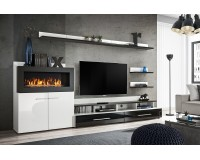 wall unit CAMINO with bio fireplace image