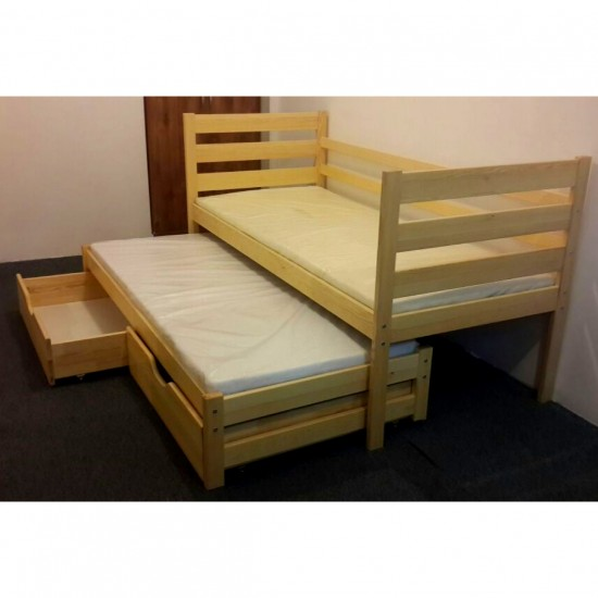 Solid wood children's bed PLUTO I model image