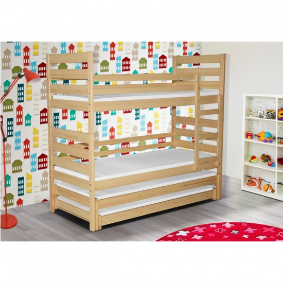 Bunk bed 4 solid wood beds Pluto 4 Furniture, Children's Furniture, Children's rooms, Children's beds, Bunk Beds image