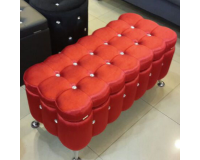 Red Pouf Furniture, Sectional Sofas, Bedroom Furniture, Poufs image